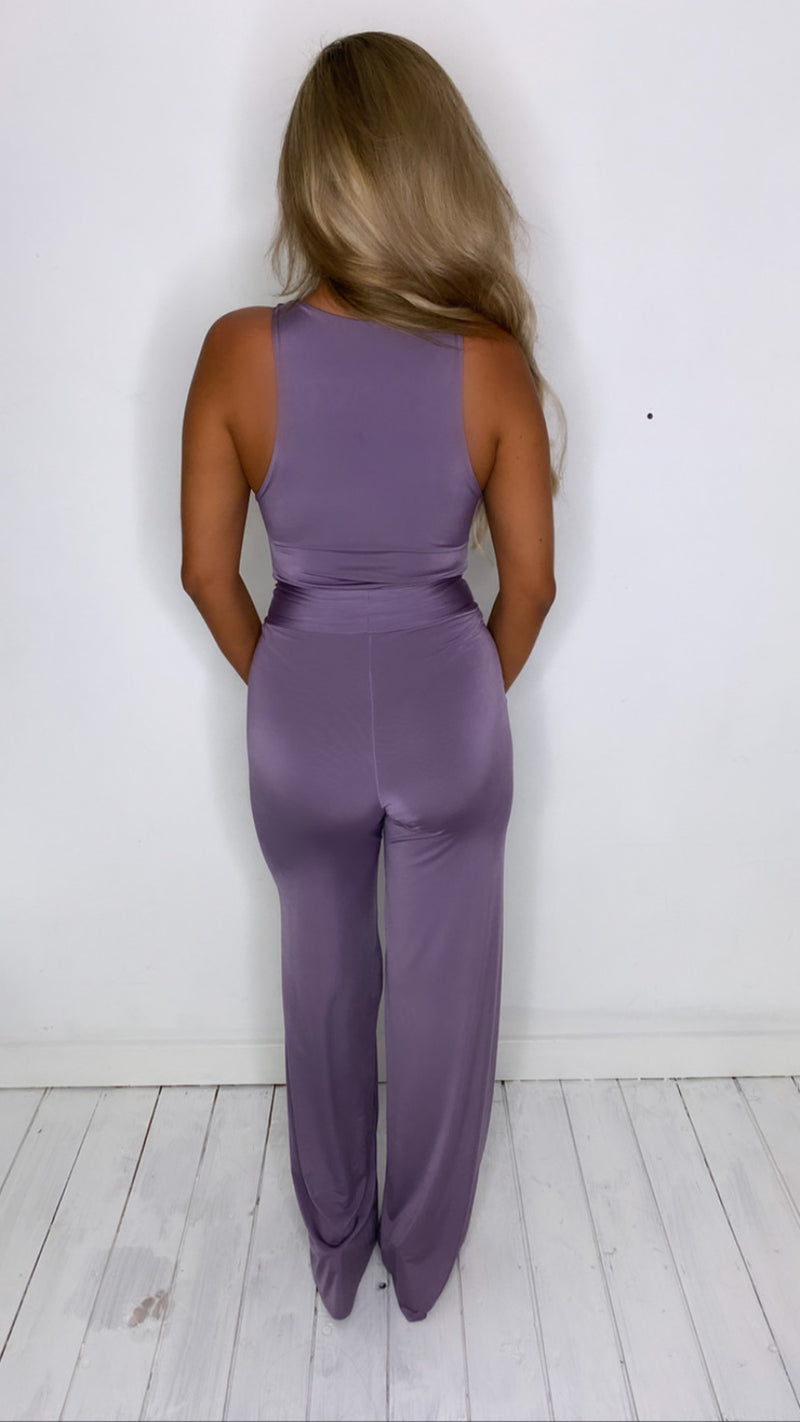 Mauve high neck bodysuit With Matching Mini Scrunchy (More Colours Available)