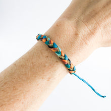 Load image into Gallery viewer, Copper Peacock Super Chunky Braided Adjustable Bracelet