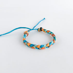 Copper Peacock Super Chunky Braided Adjustable Bracelet