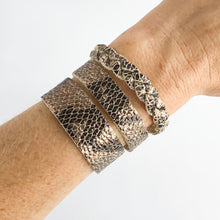 Load image into Gallery viewer, Flourish Leather Snakeskin Skinny Slim Cuff - All Sizes