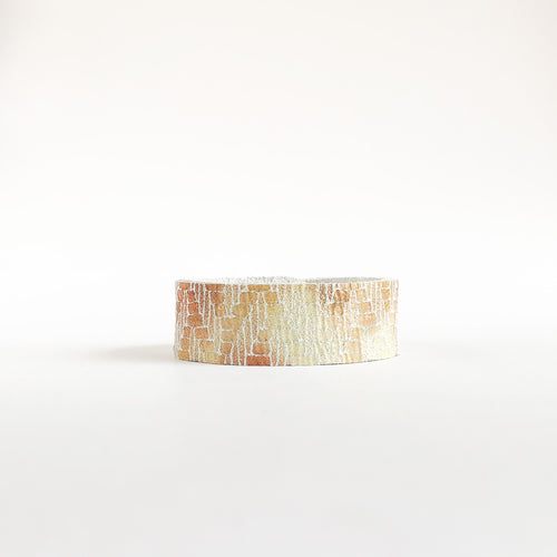 Flourish Leather Mosaic Shimmer Slim Cuff - All Sizes
