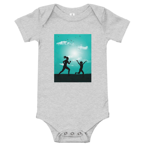 Running With Mom: Baby Onesie - A Collection Of Goods