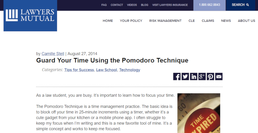 Guard Your Time Using the Pomodoro Technique