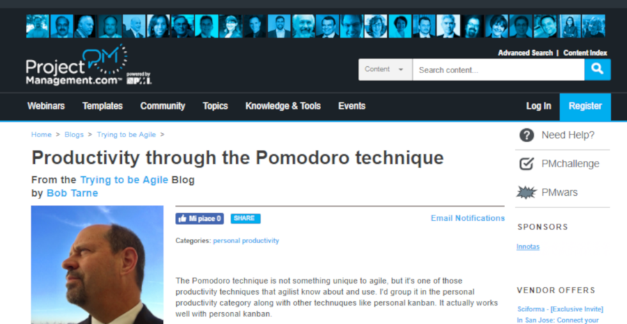 Productivity through the Pomodoro technique