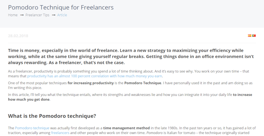 Pomodoro Technique for Freelancers