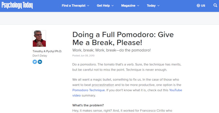Doing a Full Pomodoro: Give Me a Break, Please!