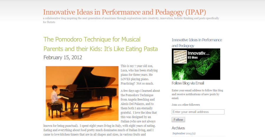 The Pomodoro Technique for Musical Parents and their Kids: It's Like Eating Pasta