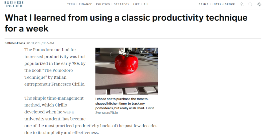 What I learned from using a classic productivity technique for a week