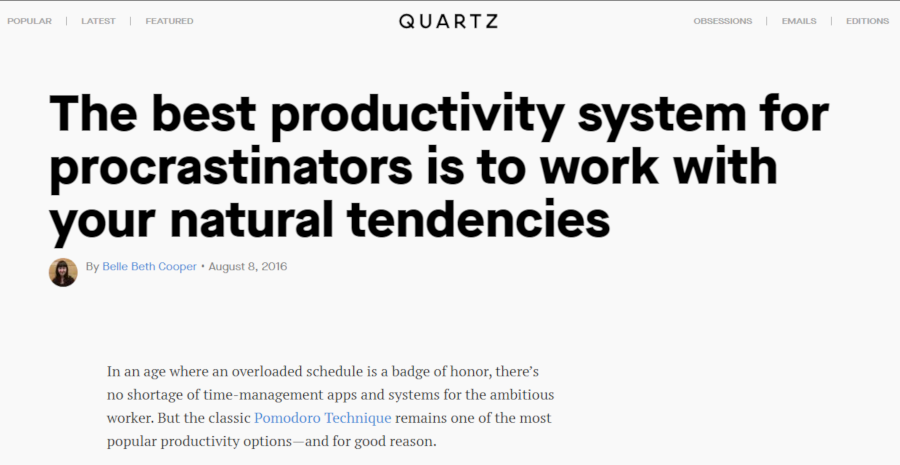 The best productivity system for procrastinators is to work with your natural tendencies