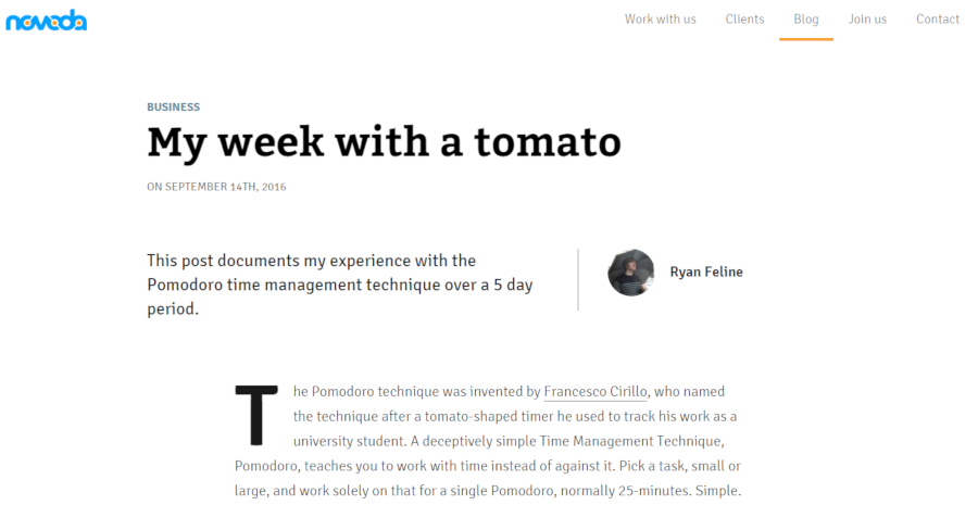 My week with a tomato