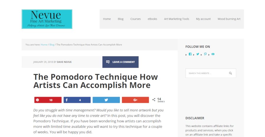 The Pomodoro Technique How Artists Can Accomplish More