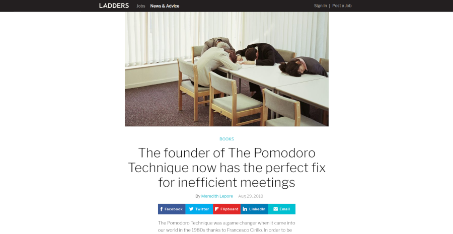 The founder of The Pomodoro Technique now has the perfect fix for inefficient meetings