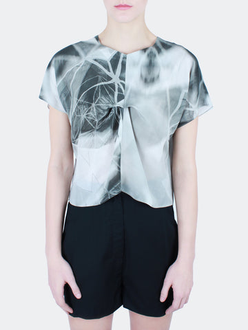 Abstract Silk Blouse