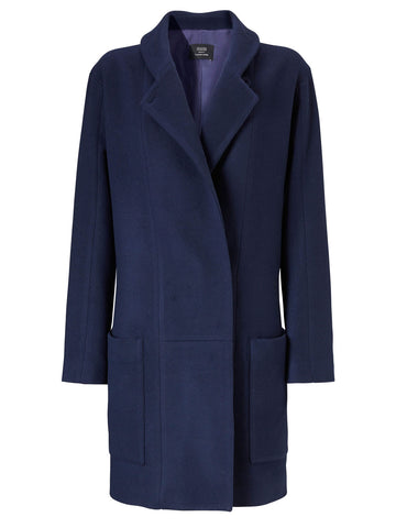 Contrast Wool Coat