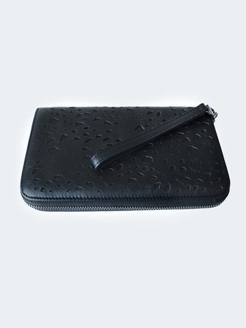 Leather Lace Clutch