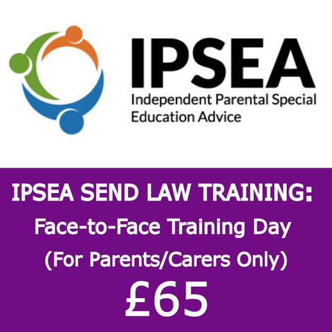 IPSEA Send Law Training Day for Parents London 22/06/2018