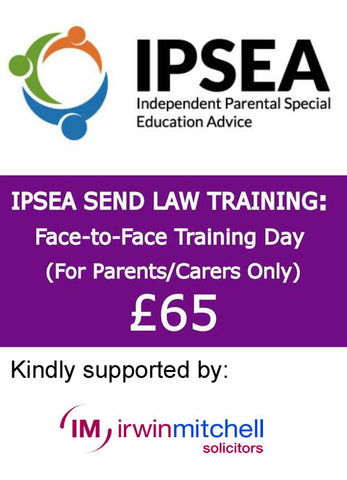 IPSEA Send Law Training Day for Parents in Cambridge 25/05/2018