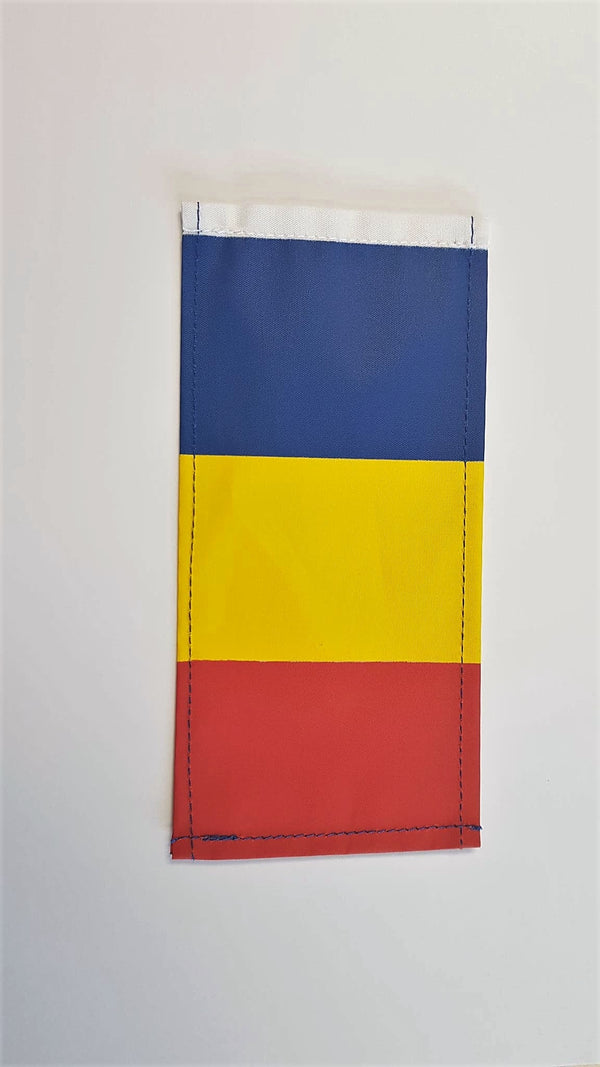 Cover Image for Romanian Flag with Pole & Base