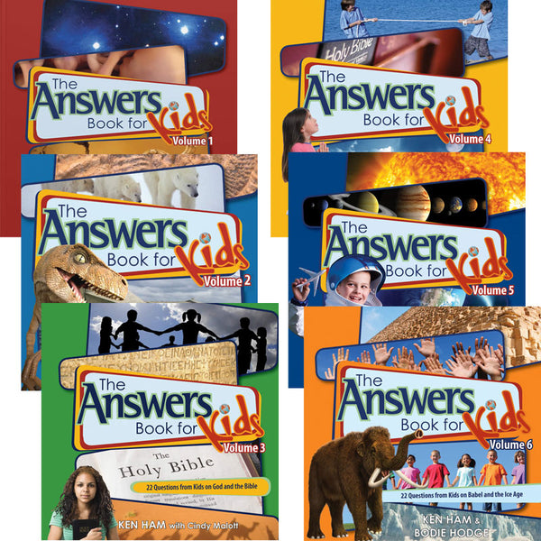 Cover Image for The Answers Book for Kids Volumes 1-6
