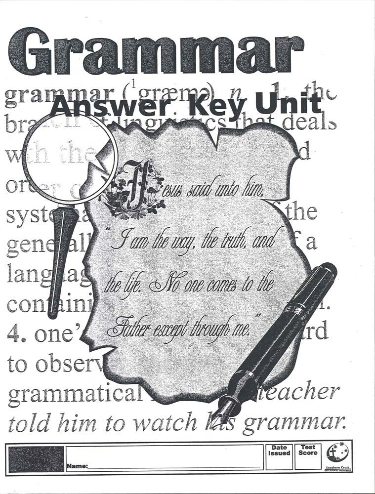 Cover Image for Australian Grammar Key - Unit 5