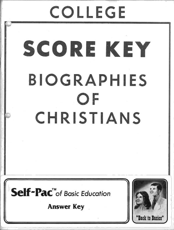 Cover Image for Biography of CHR KEYS 6-10