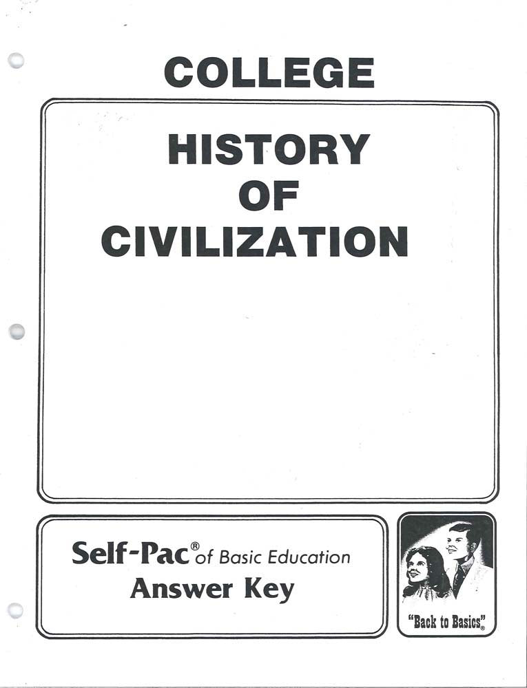 Cover Image for History of Civilization KEY 16-20