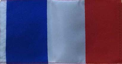 Cover Image for French Flag with Pole & Base
