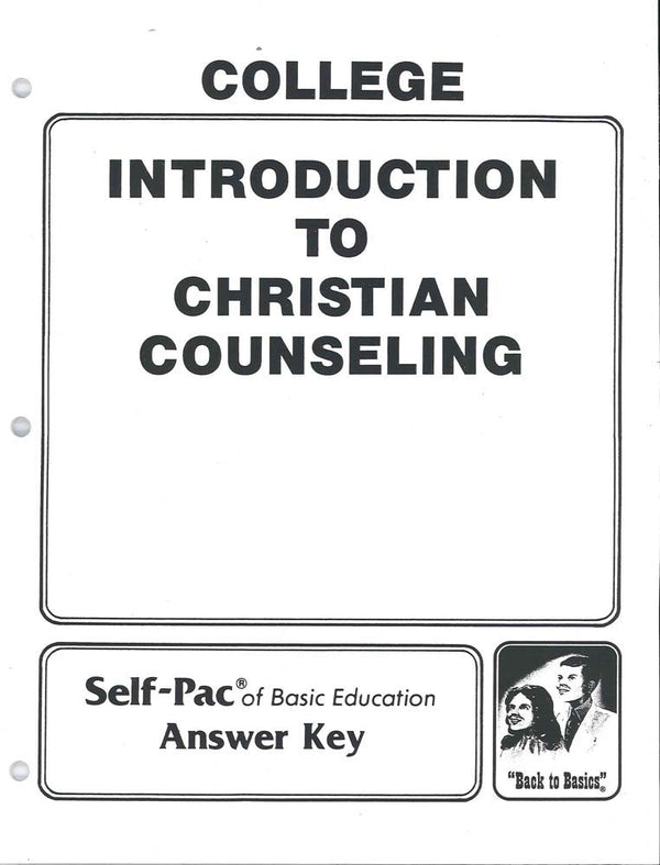 Cover Image for Intro. to Christian Counselling Keys 1-5