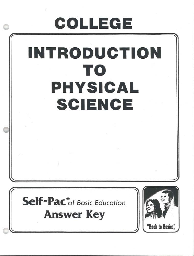 Cover Image for Physical Science KEY 1-5