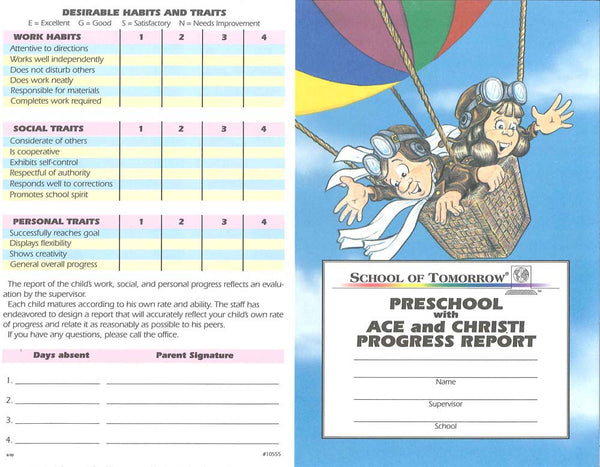 Cover Image for Preschool Progress Report (Pack of 10)