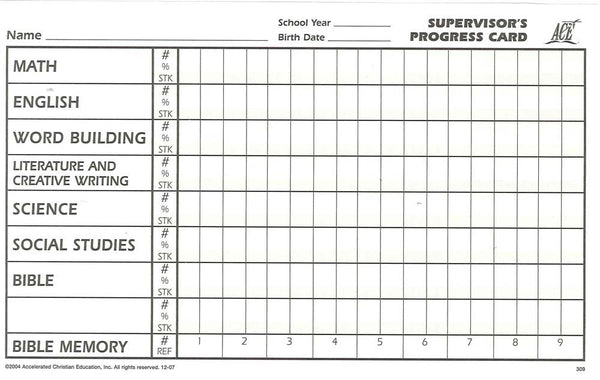 Cover Image for Supervisor Progress Card A5 Pack (50)