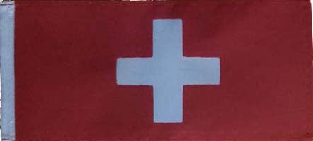 Cover Image for Swiss Flag with Pole & Base