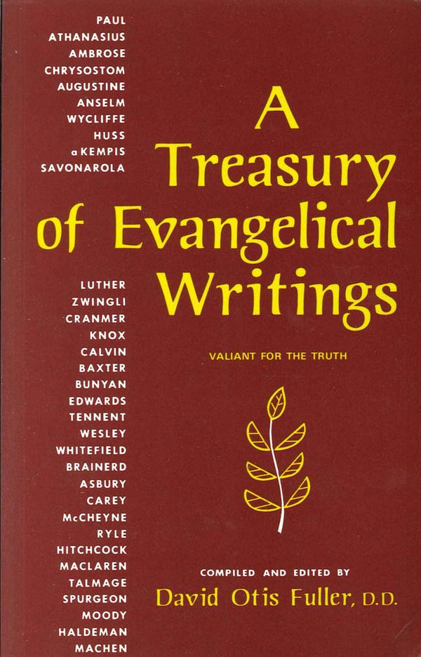Cover Image for A Treasury of Evangelical Writings