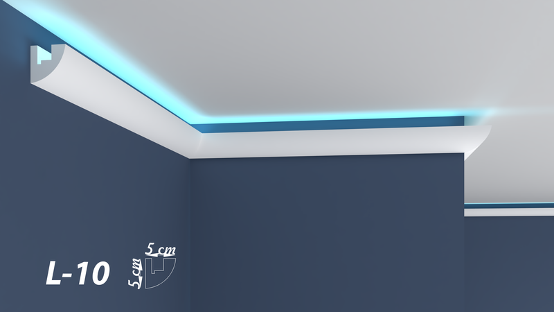 "XPS LED-COVING INDIRECT LIGHTNING UPLIGHTER POLYSTYRENE CORNICE LIGHTWEIGHT FINEST QUALITY -""BEST PRICE & QUALITY""- L-10"