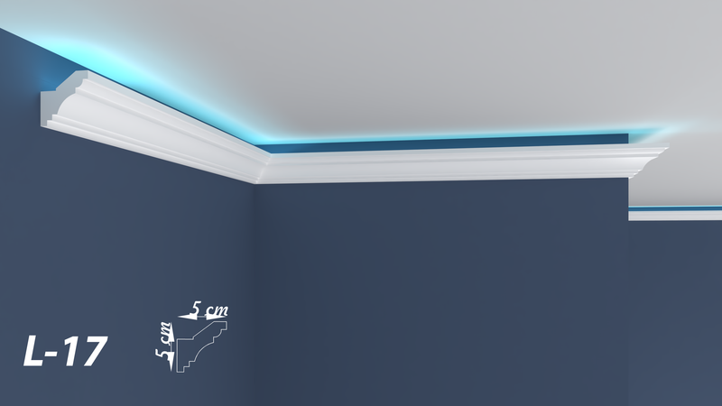 "XPS LED-COVING INDIRECT LIGHTNING UPLIGHTER POLYSTYRENE CORNICE LIGHTWEIGHT FINEST QUALITY -""BEST PRICE & QUALITY""- L-17"