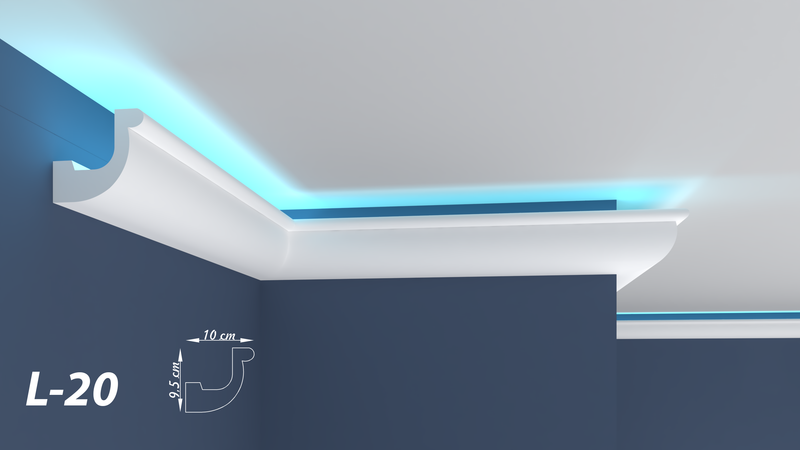 "XPS LED COVING LIGHTNING POLYSTYRENE CORNICE - LIGHTWEIGHT - ""BEST PRICE & QUALITY"" L-20"