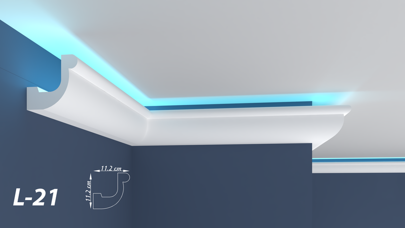 "XPS LED COVING LIGHTNING POLYSTYRENE CORNICE - LIGHTWEIGHT - ""BEST PRICE & QUALITY"" L-21"