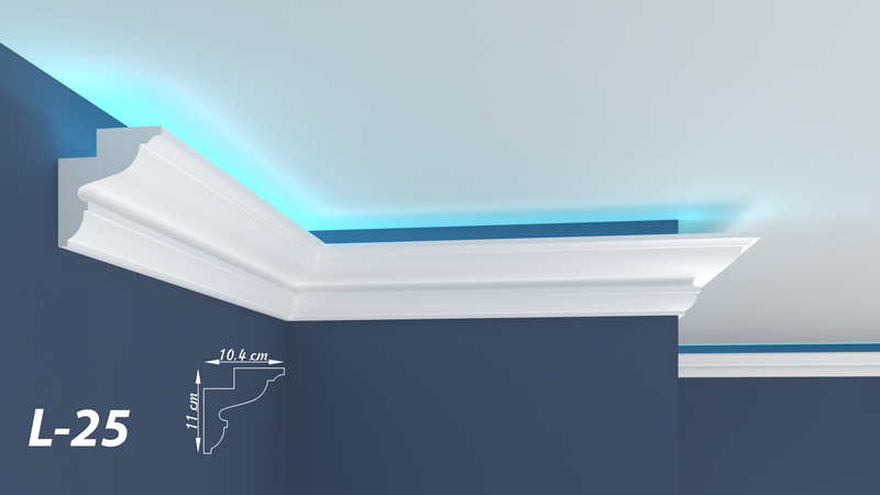"XPS LED COVING LIGHTNING POLYSTYRENE CORNICE - LIGHTWEIGHT - ""BEST PRICE & QUALITY"" L-25"