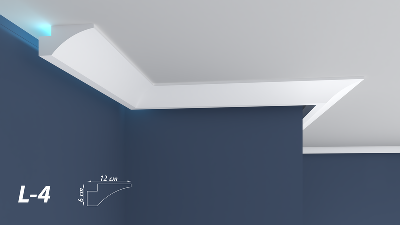 XPS COVING LED INDIRECT UPLIGHTER COVING CORNICE LIGHTWEIGHT L-4