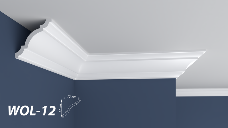 "XPS POLYSTYRENE WALL COVING CORNICE - LIGHTWEIGHT - ""BEST PRICE & QUALITY"" FINEST QUALITY NEXTDAY DELIVERY WOL-12"