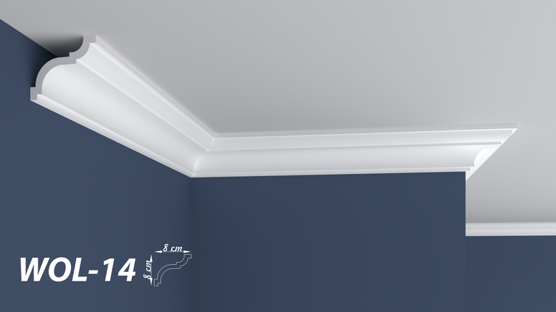 "XPS POLYSTYRENE WALL COVING CORNICE - LIGHTWEIGHT - ""BEST PRICE & QUALITY"" FINEST QUALITY NEXTDAY DELIVERY WOL-14"