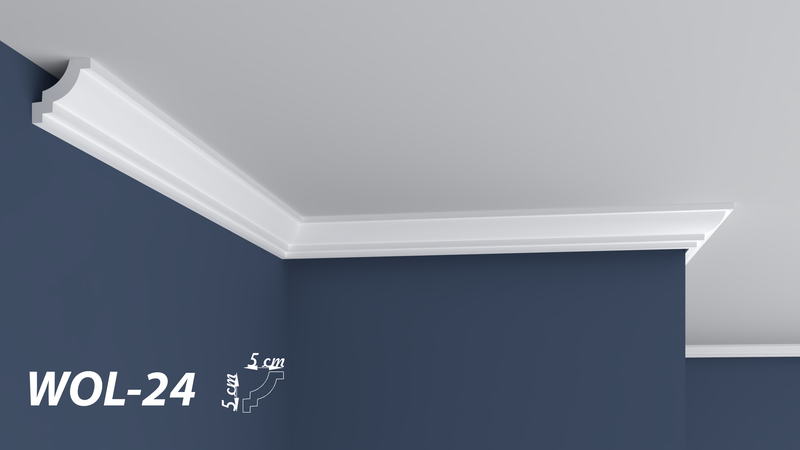 "XPS POLYSTYRENE WALL COVING CORNICE - LIGHTWEIGHT - ""BEST PRICE & QUALITY"" FINEST QUALITY NEXTDAY DELIVERY WOL-24"
