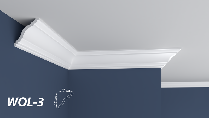 "XPS POLYSTYRENE WALL COVING CORNICE - LIGHTWEIGHT - ""BEST PRICE & QUALITY"" FINEST QUALITY NEXTDAY DELIVERY WOL-3"