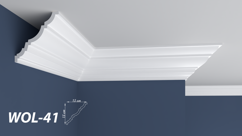 "XPS POLYSTYRENE WALL COVING CORNICE - LIGHTWEIGHT - ""BEST PRICE & QUALITY"" FINEST QUALITY NEXTDAY DELIVERY WOL-41"