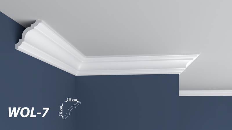 "XPS POLYSTYRENE WALL COVING CORNICE - LIGHTWEIGHT - ""BEST PRICE & QUALITY"" FINEST QUALITY NEXTDAY DELIVERY WOL-7"