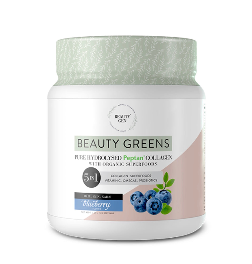 Beauty Greens Collagen (Blueberry)