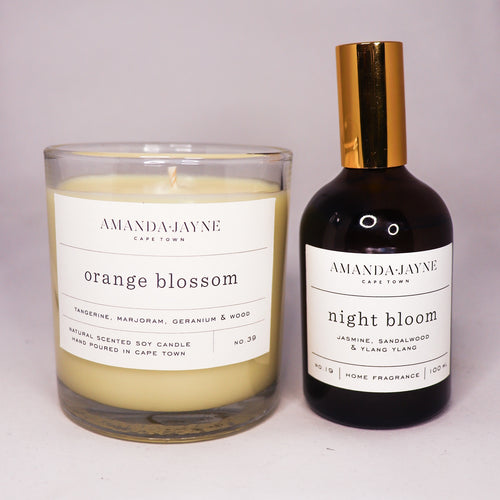 Glass Candle & Home Fragrance Combo