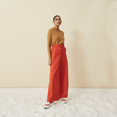 The High & Wide Pants (Tangerine)