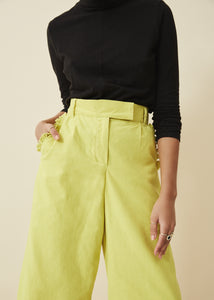 The High & Wide Pants ( Lemon)