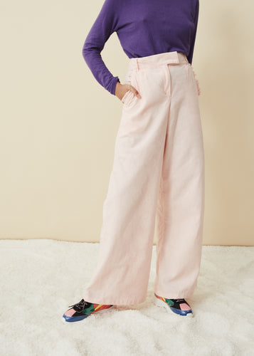 The High & Wide Pants (Rose Water)